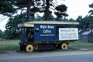 Edaville Railroad - A 1914 Walker Electric Truck displayed at Edaville Railroad in South Carver, MA, USA circa 1966