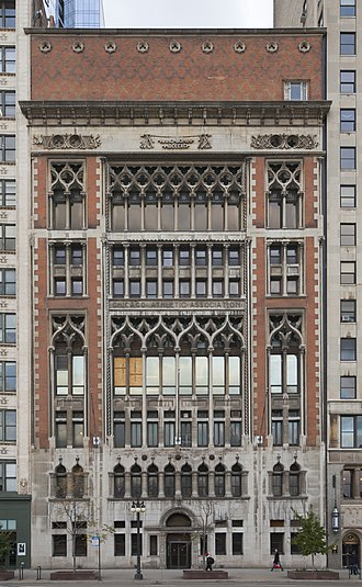 Chicago Athletic Association Football team - Chicago Athletic Association building.
