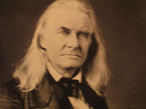 Edmund Ruffin - A standard photograph of Edmund Ruffin, displayed at Fort Sumter National Monument in Charleston, South Carolina