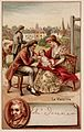 Edward Jenner vaccinating a young child, held by its mother, Wellcome L0027357.jpg