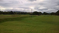 Edzell Golf Club 15th fairway and disused Edzell Railway line 2.jpg