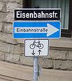 Einbahnstrasse Eisenbahnstrasse.jpg