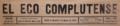 El Eco Complutense (07-08-1910) cabecera.png