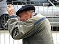 Elderly Man at Fence - Bilbao - Biscay - Spain (14620833572).jpg