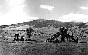 Elizabethtown, New Mexico - Elizabethtown, mining relics, 1939