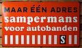Enamel advertising sign, Samperman s autobanden.JPG