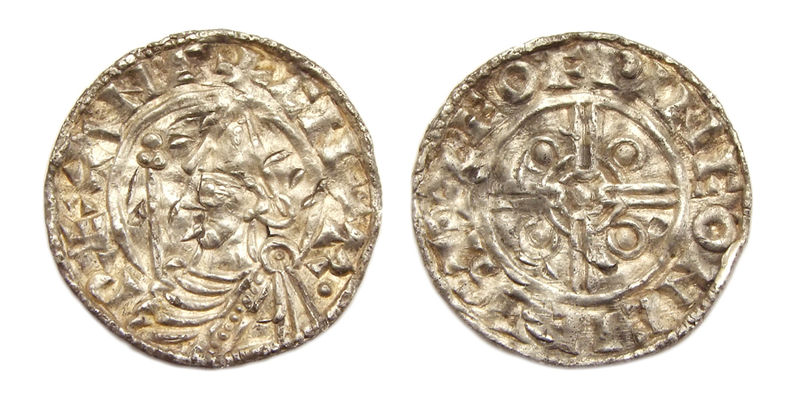 England AR penny pointed helmet type Canute the Great Chichester mint.jpg