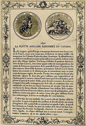 Battle of Port Royal (1690) - A 1691 French document with news of a skirmish: Flotte angloise repoussée en Canada (English flotilla repelled in Canada).