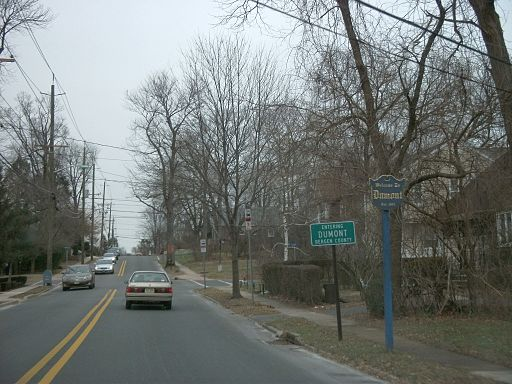 Entering Dumont, New Jersey