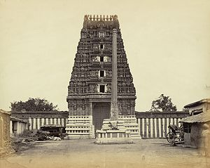 Halasuru Someshwara Temple, Bangalore - Image: Entrance gopura or gateway of the Ulsur temple in Bangalore (c.1868), by Henry Dixon, from the Archaeological Survey of India Collections
