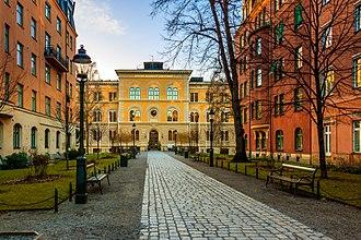 Norra Latin - Entrance to a Norra Latin school.