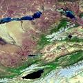 Envisat image of Kazakhstan and Kyrgyzstan ESA203758.tiff