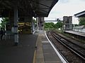 Epsom station platform 3 look north3.JPG