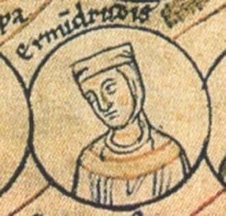 Otto-William, Count of Burgundy - Otto-William's first wife Ermentrude