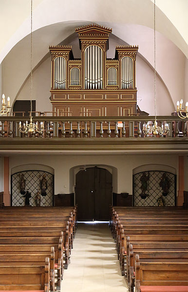 Esch-sur-Sûre (Grand Duchy of Luxembourg): interior of the Nativity of the Virgin Mary church