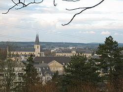 The town seen from the Gaalgebierg park.