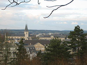 Esch-sur-Alzette - The town seen from the Gaalgebierg parc