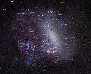 Large Magellanic Cloud irregular galaxy, satellite of the Milky Way