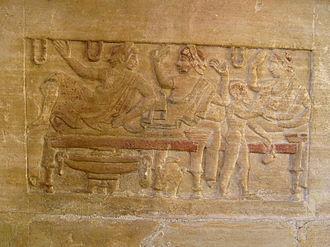 Sybille Haynes - Sarcophagus from the Sperandio necropolis near Perugia, discussed in Haynes' Etruscan Civilisation.
