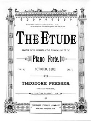 The Etude - Cover of the first issue from October 1883