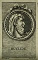 Euclid. Line engraving by S. Beyssent after Mlle. C. Reydell Wellcome V0001796.jpg