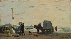 Eugène Boudin: On the Beach at Trouville