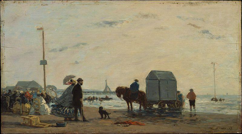 File:Eugène Boudin - Sur la plage à Trouville.jpg