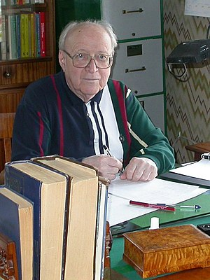 Eugene Dynkin - Eugene Dynkin at home in 2003. Photo courtesy of the Dynkin Collection.