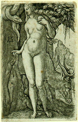 Heinrich Aldegrever's Eve, 1540. A rare early example of pubic hair in northern European art. - Pubic hair