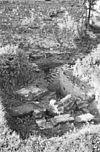 exterieur ontgraving bij de zuid, west ringmuur, gezien naar het zuid, westen - batenburg - 20310163 - rce