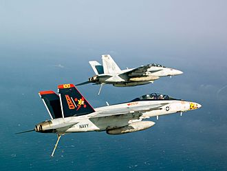 VFA-11 - VFA-11 F/A-18Fs over the Red Sea in 2012