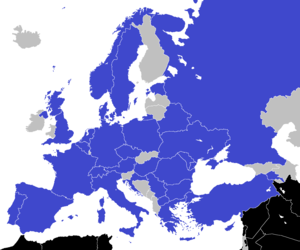 FC Shakhtar Donetsk in European football - FC Shakhtar Donetsk opponents highlighted in blue as shown on the map.