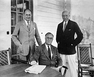 Henry Morgenthau Jr. - Morgenthau, President-elect Franklin D. Roosevelt and another man at Warm Springs (November 30, 1932)