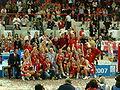 FIBA EuroBasket Women 2007 - Final - Russia celebration.JPG