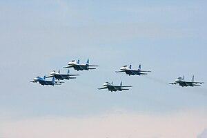 Lipetsk (air base) - Falcons of Russia aerobatic team from Lipetsk Air Base