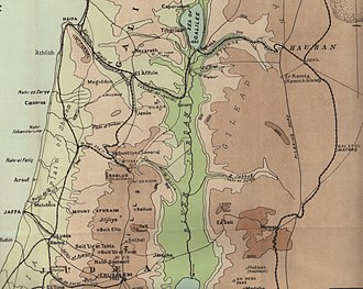 Battle of Megiddo (1918) - Image: Falls 2Map 1Sth Pal Det Megiddo