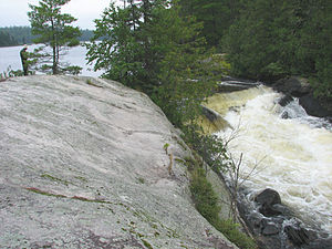 Quetico Provincial Park - Falls near Pickerel Lake