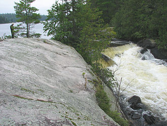 Quetico Provincial Park - Falls near Pickerel Lake