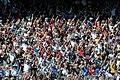 Fans holding 3 fingers in 2011 Daytona 500 in honor for Dale Earnhardt.jpg