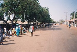 The main street in Farafenni