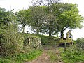 Farm track and machinery at Crosshill - geograph.org.uk - 1631349.jpg
