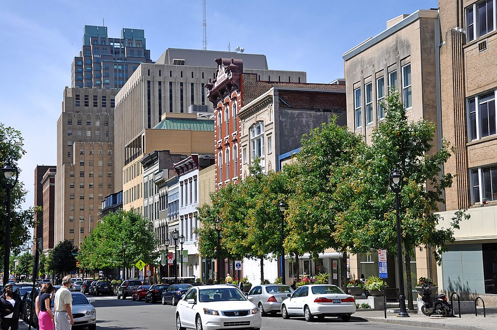 Fayetteville Street in downtown Raleigh, North Carolina