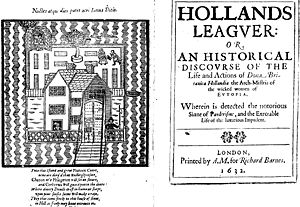 Holland's Leaguer - Title page of Holland's Leaguer