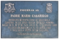 Figueras (RPS 25-07-2020) placa en honor del padre Mario Casariego.png
