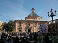 Final de la manifestació per l'educació pública i de qualitat del 29 de febrer, plaça de la Mare de Déu de València.JPG