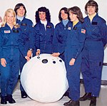 First Six Women Astronauts with Rescue Ball - GPN-2002-000207.jpg