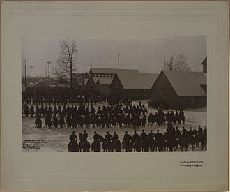 Lord Strathcona's Horse (Royal Canadians) - First mounted review of Strathcona's Horse at Ottawa, Ontario, 7 March 1900