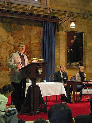 Anthony Fisher - Fisher debating Philip Nitschke at Sydney University, 2003