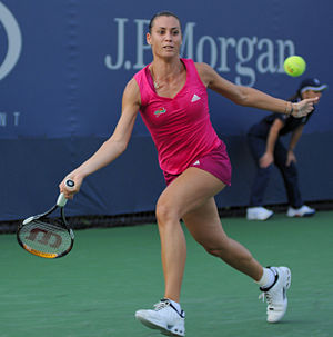 Flavia Pennetta - Pennetta at the US Open in 2010