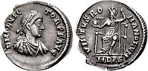 Victor (emperor) - Siliqua of Victor